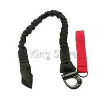 Tactical Elastic Belt Quick Release Protective Sling Lanyard Safety Line Airsoft Survival Kits Outdoor Climbing Camping Sling
