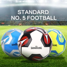 PU Standard Soccer Ball Size 5 Football sporting goods machine stitched high performance(China)