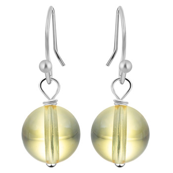 1Pair Natural Stone Hook Earring Ball Earrings for Women Cool Mens Earrings Cheap Jewelry free shipping