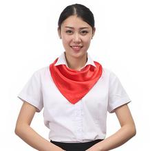 women's Spring and summer solid color silk scarf lady's office work Polyester scarf small scraf 60*60cm(China)