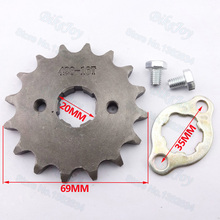 428 16 T Tooth 20mm Front Engine Sprocket for Lifan YX Loncin Zongshen Dirt Pit Bike ATV Quad Go Kart Buggy Scooter Motorcycle(China)