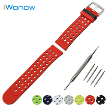 Silicone Rubber Watch Band 22mm 24mm for Diesel Double Side Wearing Strap Wrist Belt Bracelet + Tool + Spring Bar Black Red