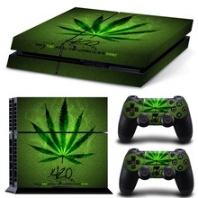 Weeds Decal Skin Cover For Play Station 4 For PS4 Controle Vinyl Skin Console Stickers Skin + 2 Pcs Protection Controller Skins(China)