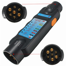 Professional 7 Pin Vehicle Car Towing Trailer Light Cable Circuit Plug Socket Tester(China)