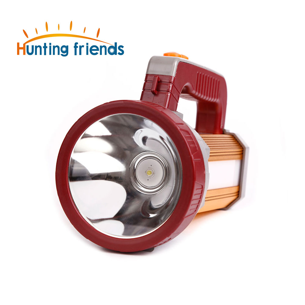 Hunting Friends Super Bright Portable Spotlight USB Port Flashlight 3 Modes Seacrchlight Built in 3x18650 Rechargeable Batteies<br>