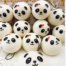 1PCS 4cm Panda Squishy Charms Kawaii Buns Bread Cell Phone Key/Bag Strap Pendant
