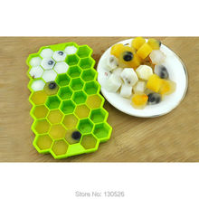 37-Cavity Honeycomb ice lattice Cake Mold Silicone Mold Ice Lolly Maker Form Yogurt Ice Box Frozen Treats Freezer Ice Cream Tool(China)