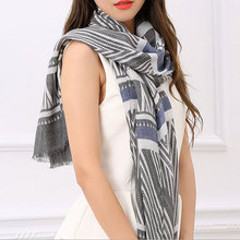 Top Sell Luxury Women Striped 100% Cotton Scarves Korean Soft Long Shawl 180*90Cm Ladies Beauty Wraps Scarf Newest 2017