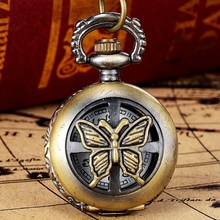 New Arrive Vintage Bronze Tone Spider Web Design Chain Pendant Men's Pocket Watch Gift Dropship s6