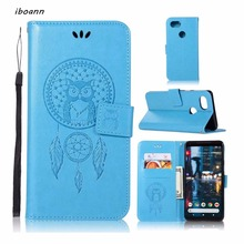 iboann dream catcher owl PU Leather stand Case for google PIXEL 2 & PIXEL XL 2 phone cases cover(China)