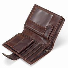 Buy Men's Vintage Real Cowhide Genuine Leather Wallets Bifold Clutch Solid Short Purses Male ID Credit Cards Holder Bag Carteira for $13.64 in AliExpress store