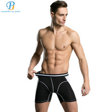 New Men Underwear Boxers Fashion Color Pants Cheap Modal Men Underwear Brand Boxers Mens Underwear Boxers Shorts Lengthened(China)