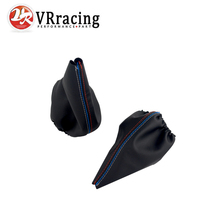 VR - For BMW 3 Series E36 E46 M3 Car Shift Gear Stick Manual Handbrake Gaiter Shift Boot Black Leather Boot Car-Styling VR-SBC13(China)