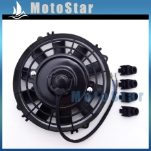 Performance ATV Radiator Thermal Cooling Fan 12V 80W For Chinese Quad 4 Wheeler UTV Go Kart Buggy