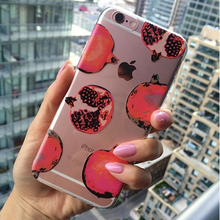 For iPhone 7 7Plus 6 6S 6Plus 8 8Plus X SAMSUNG GALAXY Fashion Pomegranate Pattern Soft Phone Case cover Fundas Coque(China)