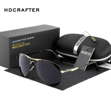 Wholesale 2017 Fashion Polarized men's Sun Glasses for sunglasses Men UV400 Brand Designer with High Quality(China)