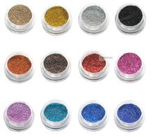 18 pcs/set Mix color nail art laser acrylic powder body glitter the acryle brand ezflow polish beauty tools(China)