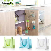 Holder Rack Cooking Tool 1PC High Quality Plastic kitchen accessory Pot Pan Cover Shell Cover Sucker Tool Bracket Storage Nov 30