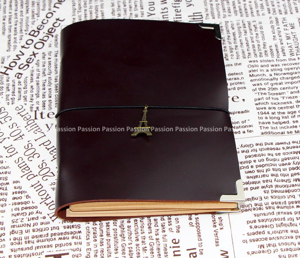 new high quality gift Diaries Journals notebook genuine leather loose leaf brown  D20141101<br>
