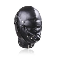 Buy Bondage Restraint Sex Toys Headgear Mouth Ball Gag BDSM Erotic PU Leather Sex Hood Mask Adult Games Sex SM Mask Couples