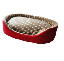 Dot Doghouse Pet Bed for Dogs Cats Soft Fabric Dog House Fleece Bed Pet Dog Kennel Furniture Dogs Indoor Sleeping Kennel(China)