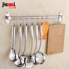 304 Stainless Steel Robe Hook Activity Towel Hooks Bathroom 40 50CM Wall Hanger Metal Coat Hooks Kitchen Towel Hook Holder(China)
