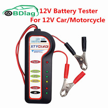 Factory Price XTYDIAG 12 Volt CAR Battery Tester Battery State 6 LED Display Car Battery Auto Alternator Diagnostic Tool(China)