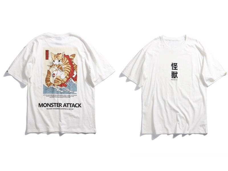 Japanese Ukiyo Cat Tshirts 2