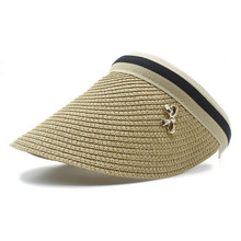 Fashion Summer Women Toquilla Straw Sun Hat Elegant Visor Empty hat with Wide Brim For Queen Mountain Climbing Beach Cap