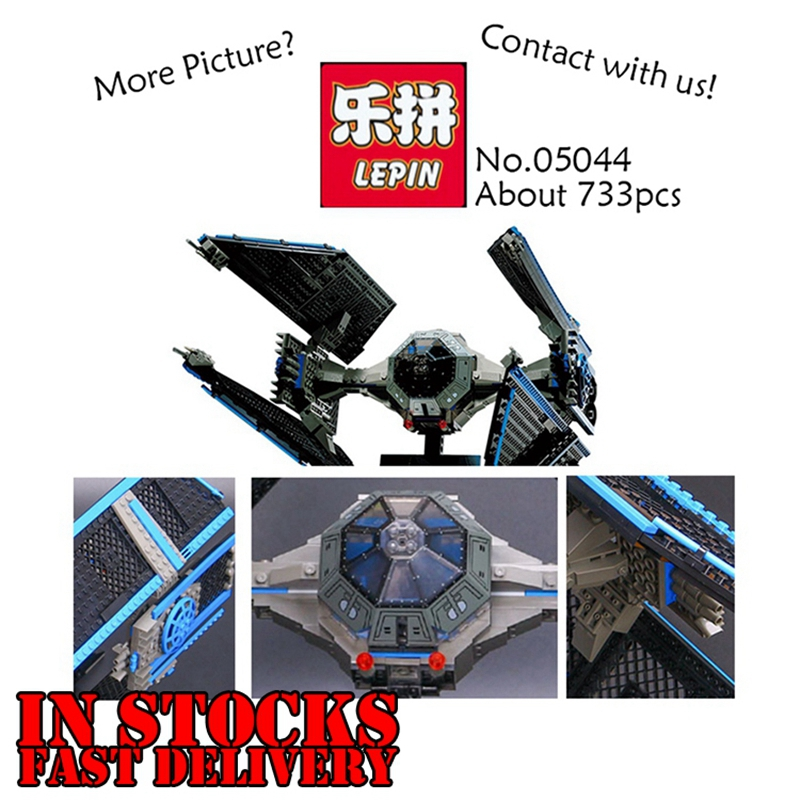 LEPIN 05044 703Pcs Star Wars UCS TIE Interceptor Model Kits figures Building Bricks Blocks Toys for Children Compatible 7181<br>