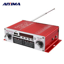AIYIMA Car Household Power Amplifier DC12V Card Radio Amplifier Machine 20 20W Tube Amp Home Theater Hifi Amplificador Audio