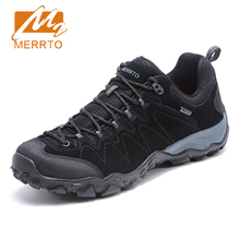 2017 Merrto Mens Walking Shoes Breathable Climbing Outdoor Sports Shoes Non-slip Travel Shoes For Men Free Shipping MT18703(China)