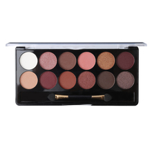 Matte & Metallic Eyeshadow 12 Color Makeup Set Waterproof Shimmer Eye Shadow Palette Nude Powder Smoky Beauty Make Up with Brush(China)