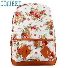 Charming Nice CONEED Women Backpacks Girl Canvas Rucksck Flower  School Book Shoulder bag New Best Gift Drop Shipping Y35