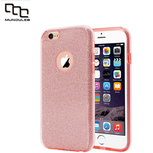 New 3 IN 1 Cover for iphone 6 plus 6s plus Case Glitter Clear PC+TPU Coque 7 7 plus Cases Bling Capa 5s SE For iphone X case(China)