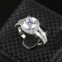 Real 925 Sterling Silver Ring Pink Wedding Engagement Zirconia Finger anel CZ Zircon for Women Jewelry Pure 100% R&J(China)