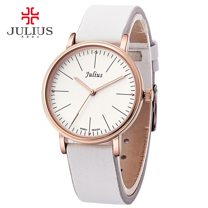 JULIUS JA-814 White Gold Watches Ladies Leather Quartz Wrist Watch Womens Arrival Luxury Brand Casual Watches PU Fashion Design<br><br>Aliexpress