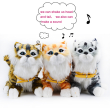Electronic Pet Interactive Electronic Sensing Cat Sound Electronic Education Toy Pets for Children play House Best Birthday Gift(China)