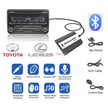 For Toyota Lexus  Lexus  Bluetooth A2DP Car MP3 Adapter AUX USB Music Charging Handsfree Kit  Free shipping