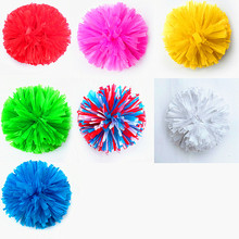 Multicolor cheerleading pom poms High quality 80g game pompoms cheering supplies Cheerleader pom poms supplies PVC pompons Color(China)