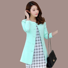 2017 Spring and Autumn new self-cultivation jacket women blazers female fashion solid color small suit woman coat(China)