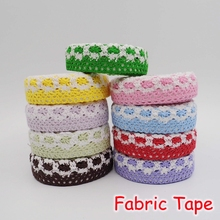 (15 Pieces/Lot) DIY Decoration Lace Fabric Tape Stickers Cute Washi Masking Tape For Scrapbooking FRS-152