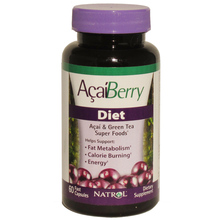 100% Natural Acai Berry Extract Capsules, Acai berry + Green tea powerful Antioxidant Dieting Fat Burning Weight loss
