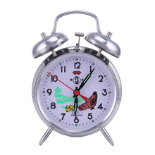 Retro Double Bells Ringing Alarm Clocks Vintage Manual Mechanical Alarm Clocks Besdide Metal Movement Home Decor Desktop Clocks(China)