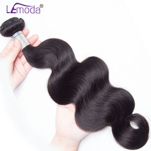 LeModa Peruvian Body Wave Hair Weave Bundles 100% Human Hair Extensions Natural Black Remy Hair Weaving Dyeable(China)