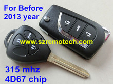 Before 2013 year 3 Button Remote Control Key For Toyota Camry,Prado,Alphard, Land Cruiser With Uncut Blade 315MHZ 4D67 chip(China)