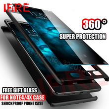 360 Degree Full Cover Cases For Xiaomi Redmi NOTE 4 4X Pro Case Hard Back Cover For xiaomi redmi 4 pro 4A Phone Shell With Glass(China)