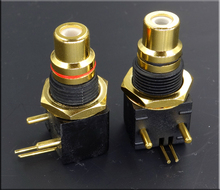 Taiwan gold plated RCA block DAC decoder digital coaxial input and output PCB welding board socket special offer