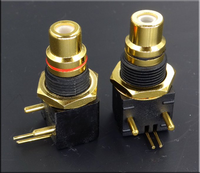 Taiwan gold plated RCA block DAC decoder digital coaxial input and output PCB welding board socket special offer(China (Mainland))