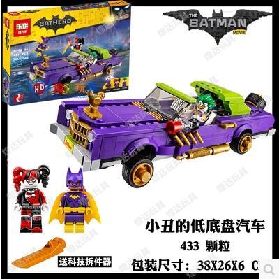 New 433Pcs Lepin 07046 Genuine Movie Series The Jokers Lowrider Set Building Blocks Bricks Batman Toys with 70906 BATHERO<br><br>Aliexpress
